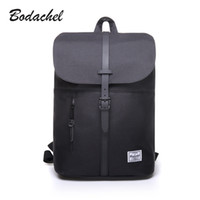 Wholesale Mini Pocket Notebook - Wholesale- Bodachel 2017 new style women backpack simple design 14'' notebook backpacks waterproof canvas bucket backpack sac a dos rugzak