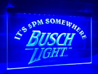 Wholesale Lighted Bar Signs Busch - LA446b- It's 5 pm Somewhere Busch Beer LED Neon Light Sign