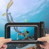 Wholesale Iphone Water Strip - VOXLINK Waterproof pouch Phone Bags 30M Underwater Dry Case Cover With Strip For iphone 6 6S 7 Plus Samsung galaxy s8 s7 edge
