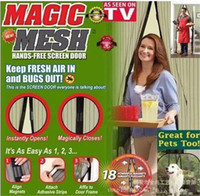 Wholesale Magnetic Anti Mosquito Mesh - Fly Mosquito Door Anti Insect Net Netting Megic Mesh Hands-Free Screen Magnets Magnetic Popular Keep Fresh Bugs out G008