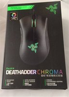 Wholesale Usb Mice Wired - Razer Deathadder Chroma USB Wired Optical Computer Gaming Mouse 10000dpi Optical Sensor Mouse Razer Mouse Deathadder Gaming Mice free DHL