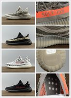 Wholesale Trainers Best Quality - Best Quality a-d SPLY 350 Boost V2 Trainers Kanye West Boost 350-V2-SPLY Men & Women Running Shoes Zebra Beluga Grey Orange Stripes Black