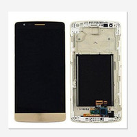 Wholesale screen digitizer for lg g3 resale online - White Gray Gold New Original LCD Touch Screen Digitizer With Frame For LG G3 D850 D851 D855