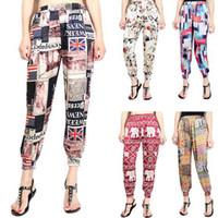 Wholesale Harem Style Pants Women - Hot Sale Plus Size XL Women's Pants High Waist Harem Pants Capris 15 Styles Free Shipping