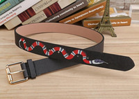 Wholesale Letters For Leather - Hot selling black colors snake pattern Mens Belts Luxury High Quality Designer Belts For Men And Women styles belt for gift
