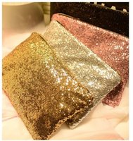 Wholesale Envelope Clutch Party - Fashion women handbag bolsos Clutch Bag messenger bag bolsas femininas Dazzling Sequins Glitter Handbag Evening Party Bag