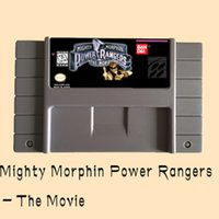 Wholesale Mighty Bites - Mighty Morphin Power Rangers The Movie 16 Bit Big Gray Game Card For NTSC PAL Game Player