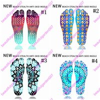 Atacado Beach Invisible Anti Slip Insoles Starry Emoji Smile Mandala Nakefit Isolamento térmico Soles impermeáveis ​​Stick On Feet Pads Meias