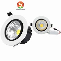 Wholesale led downlights 7w - cob dimmable led downlights led recessed ceiling lights spotlights 5W 7W 9W 12W LED decoration Ceiling Lamp AC85-265V CE RoHS