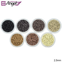 Wholesale Hair Ringlets - GH Angel 2.5mm Nano copper beads rings links RInglets for Pre Bonded Nano Tip Tipped hair extensions 1000pcs jar