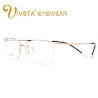 8f2e081e329 IVSTA Titanium Glasses Men Memory Eyeglasses Optical Frame Spectacle Eyewear  Women Prescription Reading Myopia Semi-Rim Brand