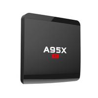 8-гигабитный медиаплеер оптовых-A95X R1 Amlogic S905W Quad-core Android 7.1 1GB 8GB Smart TV Box HDMI2.0 4Kx2K HD 2.4G Wifi потоковые медиаплееры