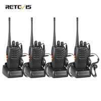 Großhandels-4pcs Walkie Talkie Retevis H777 UHF 400-470MHz Schinken Radio Hf Transceiver Radio Communicator Walkie-Talkie Handy Telsiz A9105A