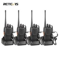 Wholesale Handy Uhf - Wholesale- 4pcs Walkie Talkie Retevis H777 UHF 400-470MHz Ham Radio Hf Transceiver Radio Communicator Walkie-talkie Handy Telsiz A9105A