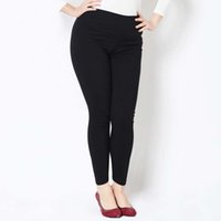 Wholesale Sexy Korean Leggings - Wholesale- NEW Korean Autumn Winter XXXL 4XL 5XL Size for Sexy Elastic Cotton Soft Show Thin Women All-match Leggings Plus size 7 Colors