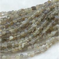 jóias de ágata branca genuína venda por atacado-Atacado Natural Genuine Branco Ágata Cinza Pequeno Nugget Forma Livre Filé Irregular Seixo Beads Fit Jóias 15