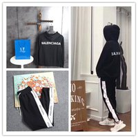 Wholesale Oxford English - Luxury Brand Casual Pants English Alphabet Black And White Side Trousers Elastic And Fashionable Hat English Letters Sweater BAL001