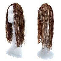 kanekalon tresses afro crépus achat en gros de-Kinky Deep Curly Crochet Afro Braiding Cheveux En Vrac Bounce Coiffure Twist Kanekalon Cheveux Extension 60CM, 24