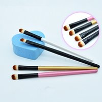 Wholesale eyebrow angle brush - Wholesale New Super Soft Professional Makeup Eyebrow Brush Eyeshadow Blending Angled Brush Comestic Make Up Tool