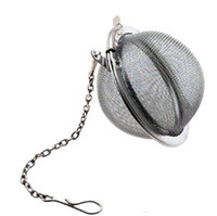 Wholesale Sphere Tea Filter - New Stainless Steel Sphere Locking Spice Tea Ball Strainer Mesh Infuser tea strainer Filter infusor Free Shipping LLFA