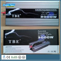 Wholesale Tbe Inverter - Wholesale- DC12V To AC 220V Pure Sine Wave Inverter USB Car Electronic Accessories Solar Inverter TBE 3000watt 3000W Power Inveretr