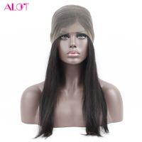 Wholesale virgin human hair wigs sale online - Hot Sale Straight Human Hair Wigs For Black Women Brazilian Virgin Hair Lace Front Wigs Straight Human Hair Wigs