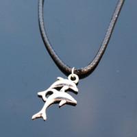 Wholesale Cheap Pendants For Men - Wholesale-N798 Shark Pendant Necklaces Bijoux Collares For Women Men Punk Dolphin Necklace Fashion Jewelry Cheap