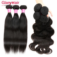 Wholesale Indian Wavy Hair For Cheap - Malaysian Body Wave or Straight Human Hair Weave Bundles Indian Brazilian Peruvian Hairs Cheap Hair for Black Women 8a Hair Weft Bundle Wavy