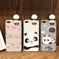 Wholesale Cases For Dolls - Cute cartoon panda TPU scrub phone case For iphone 7 7plus 6s 6plus 5s SE 8 8plus X Panda dolls Back Cover case