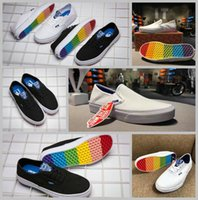 Wholesale Sole Skate - 2017 Brothers Marshall x  Surf Skate Canvas Shoes Women Men Black White Rainbow Sole Slip on Authentic Casual Sport Sneakers 35-44