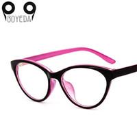 gafas de animales al por mayor-Al por mayor- BOYEDA Ojo de gato Gafas Ópticas Marco Marca Moda Mujeres Myopia Eye Glasses Frame Vintage Retro Eyecta Eyewear