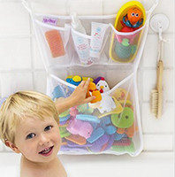 Wholesale Hanging Bath Basket - Baby Bath Storage Bag Hanging Mesh Net Bathroom Shower Toy Baskets Organiser Bag Bathtub Toy OOA1843