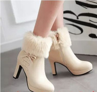 Wholesale Satin White Platform - New Arrival Hot Sale Specials Super Fashion Influx Martin Retro Knight Warm Sweety Cotton Winter Thick Platform Heels Ankle Boots EU34-43