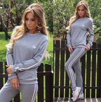 Wholesale Sportwear For Women - Free shipping Hot tracksuits women sport suits set 2017 New Autumn Jogging Suits For Women ladies brand running sets sportwear