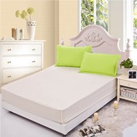 Wholesale Elastic Beds - Wholesale-Elastic sheet set 3pcs set bed sheet 180*200 elastic bedspread bed cover aloe cotton rubber fit sheet+two pillowcase