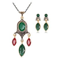 Wholesale plant lights for sale - 1 Set Hight Quality 3 Colors Crystal Flower Necklace Sets Fashion Earing For Women Jewelry Hot Sale JNA0365