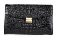 Wholesale clutch bags for sale - Top quality Women Clutch bags Imported Crocodile leather surface cow leather inner cm wide Envelope bags buisness casual all suitable