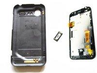 Wholesale Incredible S Touch - Touch Screen Glass Sensor Digitizer + LCD Display Panel Screen Monitor Assembly+ Black Frame + back housing case For HTC incredible S S710e