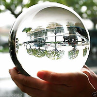 Wholesale Asian Folding Fans - VERY BEAUTIFUL ASIAN QUARTZ Clear Crystal Ball Sphere 100mm +stand