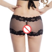 Neue Crotchless Knicker Shorts Panties Sexy Dessous Unterwäsche Open Crotch Hosen Slips Fabric Ultra Thin Intimates G-String dy291