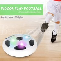 Wholesale Wholesale Light Up Items - Creative LED Light-up Suspension Football Indoor Sport Levitate Toys Air Power Electric Soccer Ball Toy For Parent-child Kids Boy