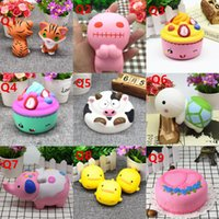 Wholesale Kid Children Cell Phone - Squishy Toy Little tiger pegasus penguins squirre squishies Cartoon ice Soft Squeeze Cute Cell Phone Strap gift Stress for children toy