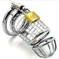 Wholesale Chastity Belt Wire - 2017 New Steel Wire Male Cock Penis Cage Bondage Chastity Belt Device Gay Fetish BDSM Sex Toy 3 Size