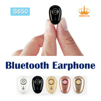 Wholesale Bluetooth Earphones For Cellphones - S650 Mini Wireless V4.1 Bluetooth Earphone Headsets Headphone cellphone earbuds with Mic for iPhone Samsung Huwwei Xiaomi HTC