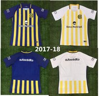Wholesale Central Homes - Top Thai quality 17 18 Argentina Rosario Central Jersey home Jersey 2017 2018 away shirt Rugby jersey Free delivery