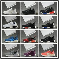 Wholesale Floor Cut - 2017 New Nmd R1 Black and White Grey Men Women Running Shoes NMD nmd R1 Sport Sneaker Mens Shoes Size 36-45