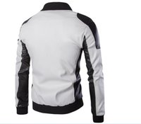 nueva capa de vestido negro al por mayor-2017 nuevos hombres de invierno chaqueta de piel sintética negro vestido blanco diablo estilo largo cazadora Fox grueso abrigo de piel de hombre de moda caliente leahter