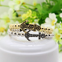 Wholesale Energy Beads Bracelet - New Men Energy Jewelry 6mm Real Gold Plated Round Copper Beads With Four Colors Cz Anchor Braided Bracelets