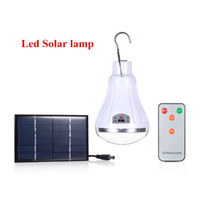 Wholesale Dimmable Camping - Wholesale-Outdoor Indoor 20 LED Solar Light Garden Home Security Lamp Dimmable led solar lamp by remote control Camp Travel lighting