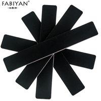 Wholesale Buff Color - 50pcs Professional Rectangle Nail Art Files Buffer Buffing Tips Slim Crescent Grit 100 180 Set Black Color
